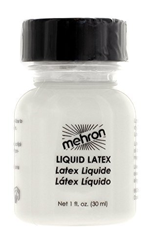 Special Effects Makeup Halloween (Mehron Makeup Liquid Latex for Special Effects| Halloween| Movies – CLEAR- 1oz)