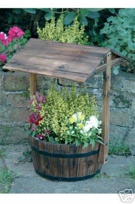 Small Wishing Well Planter Amazon Co Uk Garden Outdoors