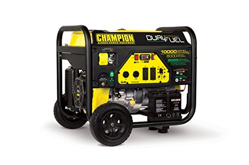 (Champion 8000-Watt Dual Fuel Portable Generator with Electric Start)