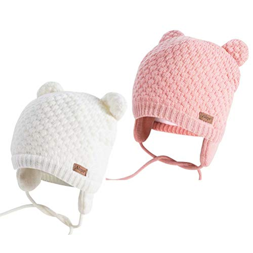 Alepo Kids Winter hat(2 Pack Whi...