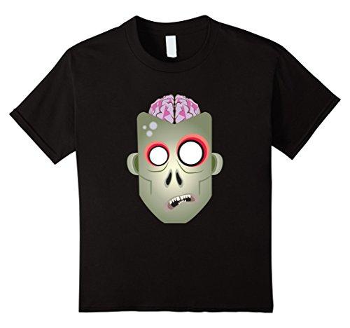 Kids Zombie Brains Halloween T-Shirt - Funny Zombie Tee 12 Black