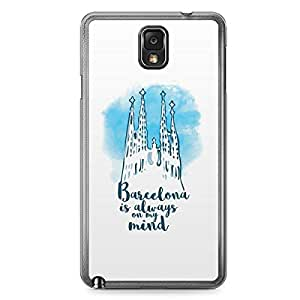 Barcelona Samsung Note 3 Transparent Edge Case - Destinations of the World