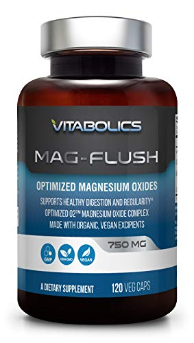 Mag Flush 750 mg 120 Caps - Natural Magnesium Oxide | Gentle Laxative | Healthy Digestive Tract | Regularity Formula | Oxygen Based Colon ()