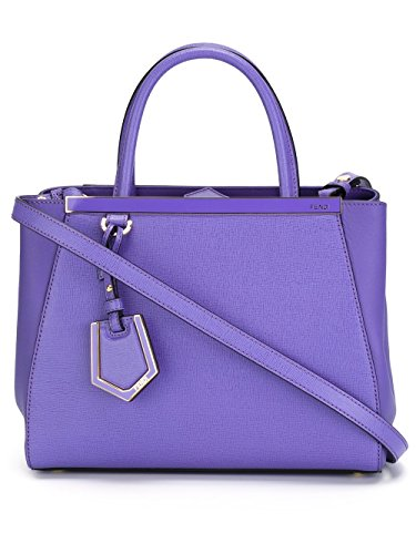Fendi Woman 8bh253d7ef0k13-mcf Purple Leather Handbag
