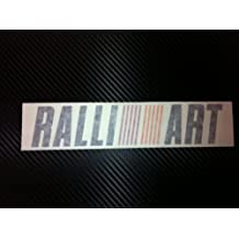 1 X RalliArt Racing Decal Sticker (New) Black with Orange and Red Size 8''x 1.7''