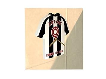Notts County FC club de fútbol - Camiseta de fútbol reloj - cualquier nombre y cualquier número - elegir.: Amazon.es: Deportes y aire libre