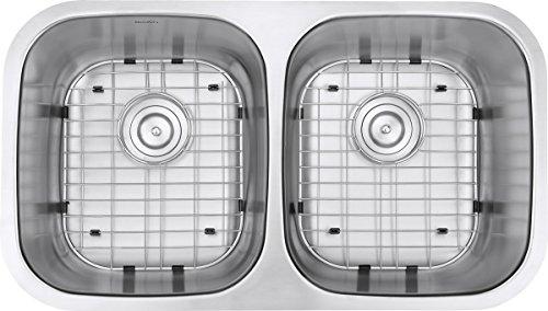 Ruvati 32-inch Undermount 50/50 Double Bowl 16 Gauge Stainless Steel Kitchen Sink - RVM4300 by Ruvati (Image #5)