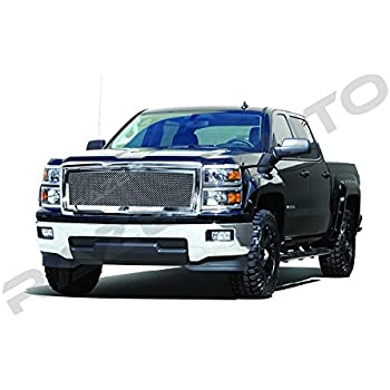 Amazon com: Rough Country 70103 Mesh Grille w/LED Light | 14-15