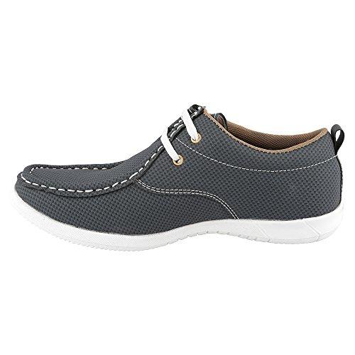 Hi-Attitude Men's Blue Synthetic Casual Shoes (450079069007) – 6 UK