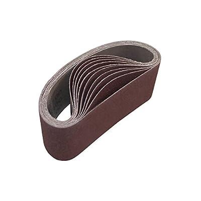 ALEKO 3-Inch x 21-Inch 150 Grit Aluminum Oxide Sanding Belt, 10-Pack by ALEKO