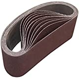 ALEKO 3-Inch x 21-Inch 120 Grit Aluminum Oxide Sanding Belt, 10-Pack