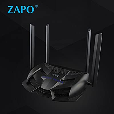XBOSS Gaming LED WiFi Router AC 2600Mbps and Storge Repeter - Powered by Zopo Dual band 5Ghz wireless Gigabit Ethernet speeds- Control your ping and latency- Works with Xbox, PlayStation, PC and more