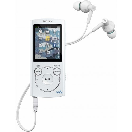 Sony NWZS764WHI 8GB S Series MP3 Player White with Bluetooth Wireless Headphones by Sony