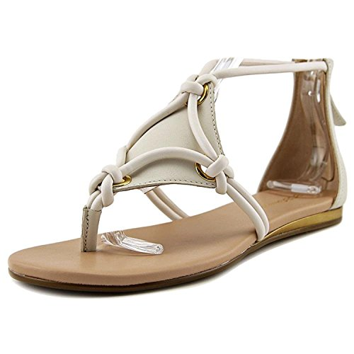 BCBGeneration Womens Sara Leather Split Toe Casual Strappy, Chalk, Size 6.5
