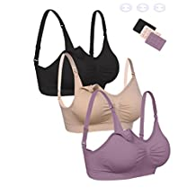 Aibrou Maternity Bra Wirefree Padded Bras for Women Breastfeeding Nursing Bra