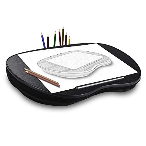 Lap Desk Pillow NNEWVANTE Lap Tray for Adults Kids Laptop Table Desk for Lap on Knee Cushoned 15.6in Laptop with 2 Pocket