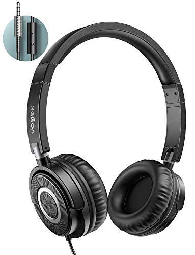 Kopfhörer auf Ohr, Vogek faltbare kabelgebundene on Ear Kopfhörer mit Verbessertem Bass und Stereo Sound, Headsets mit…
