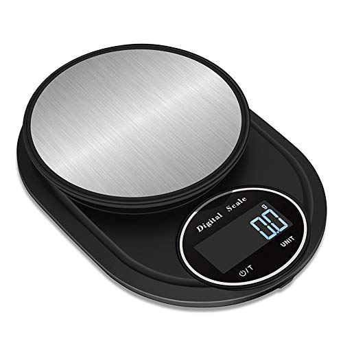 Kitchen Digital Scales Liquid Measure Feature Electronic Cooking Weighing Scale LCD Display Tare Function Ultra Slim Design Stainless Steel Auto Off,A,3KG (Convert 3-3 Kg To Lbs And Oz)