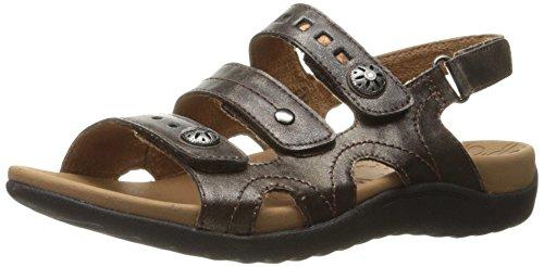 ge 3 Band Sling Heeled Sandal, Bronze, 9 M US ()