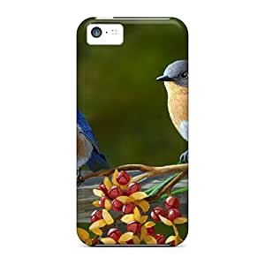 Ideal NadaAlarjane-051301 Case Cover For Iphone 5c(beautiful Pair Of Colorful Birds), Protective Stylish Case