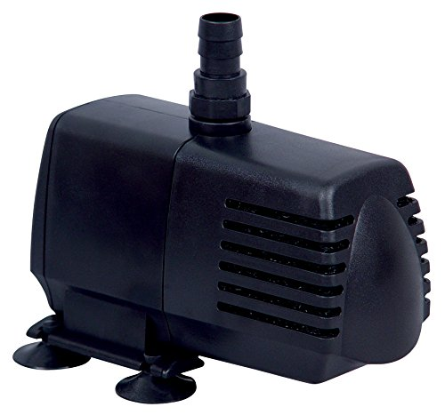 EcoPlus 590 GPH (2233 LPH, 40W) Submersible Water Pump w/ 15 ft Power Cord | Aquarium, Fish Tank, Fountain, Pond, Hydroponics