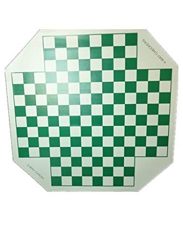 IDOPUZ️® Juego de ajedrez Staunton Tournament al Mejor Precio | Tablero Enrollable de 17 «Rey de 3» | Juego de Mesa Bolsa de ajedrez de 22 «
