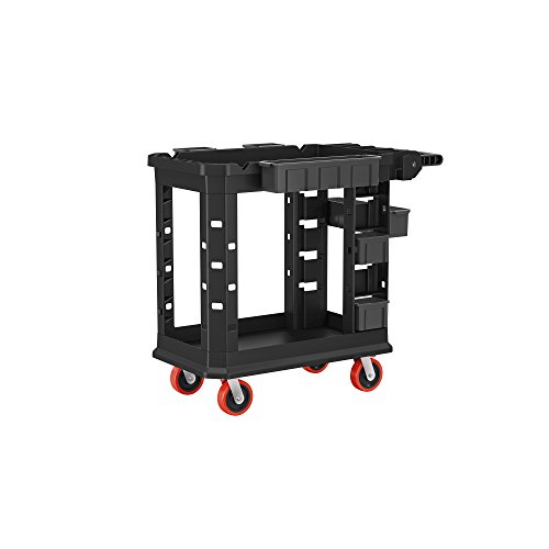 Suncast Commercial PUCHD1937 Utility Cart, Heavy Duty Plus 19 x 37, 500 Pounds Load Capacity, black ()