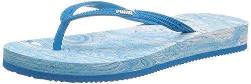 Puma Kvinna Första Flip Plattform Marmor Athletic Sandal Puma Vit-blå Danube