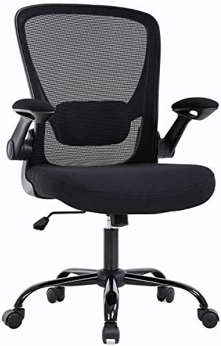 KOVALENTHOR Home Office Chair Ergonomic Desk Chair Mesh Computer Chair Swivel Rolling Executive Task Chair with Lumbar Support Arms Mid Back Adjustable Chair for Women Adults, Black