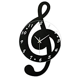 iBaste Music Wall Clock - Wall Clock Quartz Movement for Bedroom Living Room Personality Decoration