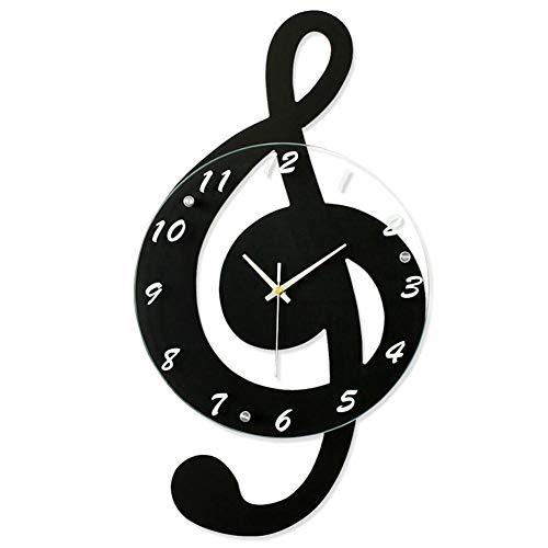 (G-Clef Music Wall Clock Modern Minimalist Hanging Wall Clock Quartz Movement for Bedroom Living Room Home Decoration)