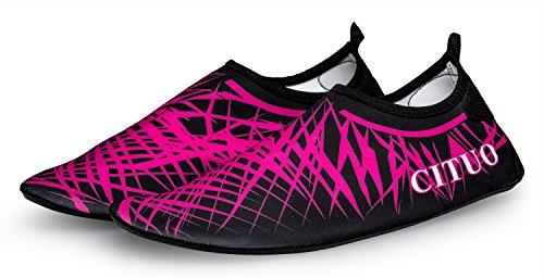 norocos Damen Leichte Wasserschuhe Weiche Quick-Dry Aqua Socken Für Beach Surf Yoga Roseriert