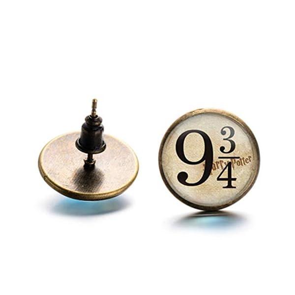 PPX 6 Coppie Orecchino, Doni della Morte/Boccino d'oro/Piattaforma 9 3/4 Gioielli di stili multipli con Scatola