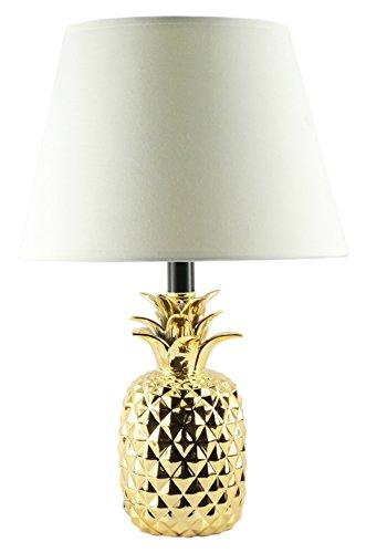 KANSTAR BL606 Ceramic Pineapple Gold Finish Table Lamp