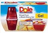 Dole Mixed Fruit in Black Cherry Gel 4 pk