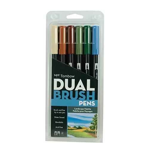 Tombow Dual Brush Pen Set 6/Pkg-Landscape