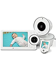 Project Nursery HD Video Baby Monitor with Mini Monitor, White, 5""
