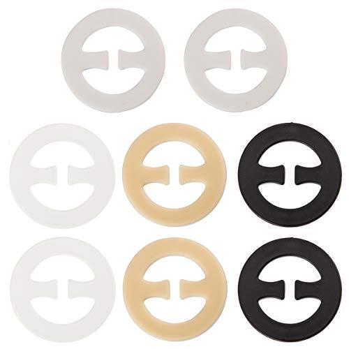 Bra Clip Straps for Racerback - Women Anti Slip Conceal Bra Strap Clip Pack of 8 (Plastic Tank)