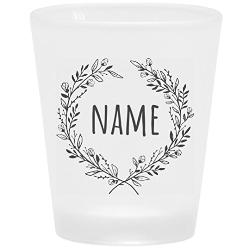 Cute Custom Floral Shot Glass: Frosted Shot Glass -