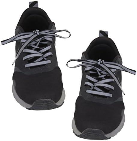 1.2m フラット 蛍光 反射 レース スポーツ トレーナー 靴ブーツ 靴ひも 黒