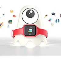 Octopus Watch by Joy Kids Smartwatch - Plan Activities, Responsibilities and Healthy Habits - Electronic Daily Schedule - Bundle, Red - Watch and night light