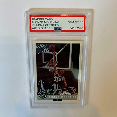 Alonzo Mourning Signed Autographed 1992 Classic Card Basketball - Basketball Autographed Cards