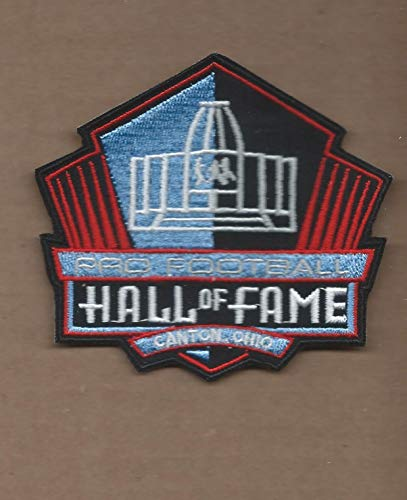 Iron On Embroidered Patch Top Quality NFL Hall of Fame 3 3/8 X 3 3/4 INCH