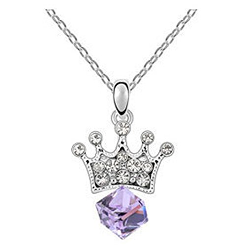 GUGGE Princess Lover Imperial Crown Crystal Pendant(C2)