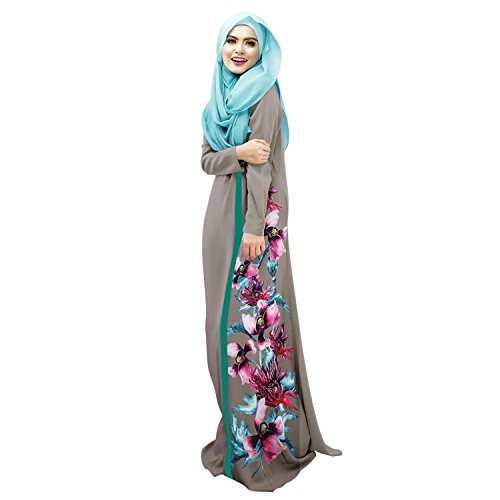 Aro Lora Women's Islamic Floral Abaya Apparel Jilbab for sale  Delivered anywhere in USA