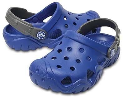 Crocs Unisex Kids Swiftwater Clog, Blue Jean/Slate Grey, 1 US Big Kid (8 - 12 yrs)