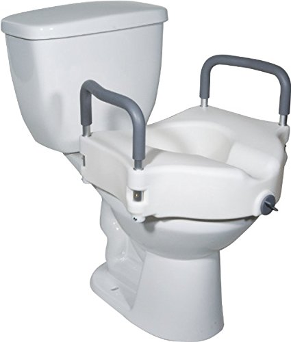 Vaunn Medical Elevated Raised Toilet Seat for the elderly, disabled
