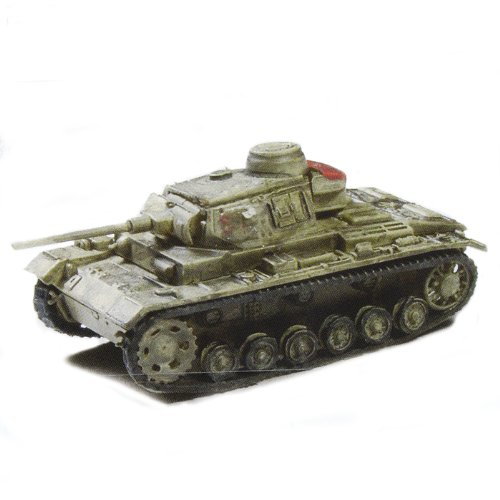 Battle Tank Kit Collection Trading Figures - Vol 1 - German Panzer III Ausf. J 1942 (Tan - 1/144 Scale)