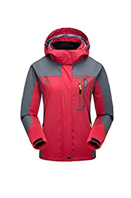 KISCHERS Waterproof Jacket Women's Raincoat, Ladies Rain Jacket, Softshell Jackets Outdoor Sportwear Rain Coats with Hooded