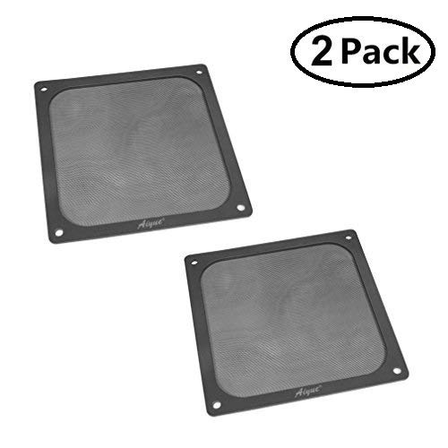 AIYUE 120mm Ultra Fine Magnetic Frame PC Fan Dust Filter Dust Filter Fan Filter PC Cooler Filter Black Dustproof Case Cover Computer Mesh Computer Fan Grills 2 Pack